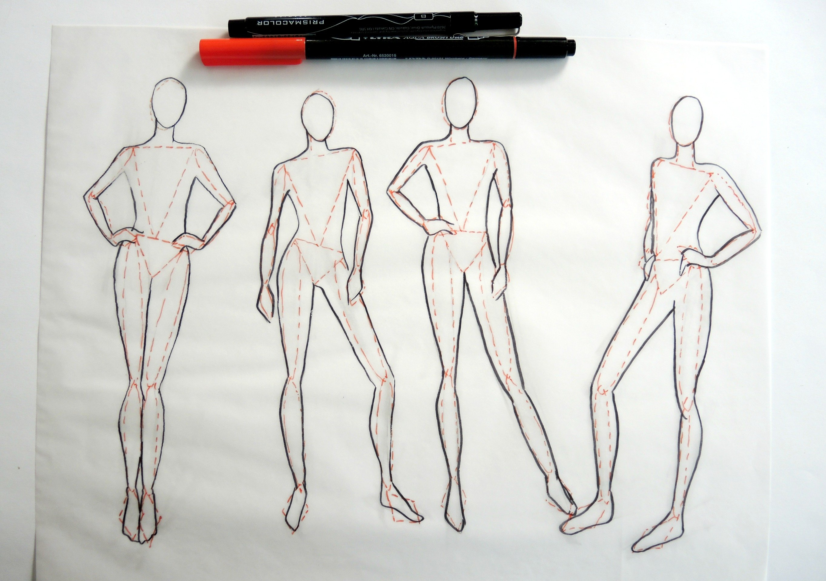 Fashion design model drawing fashion models for Body movement drawing