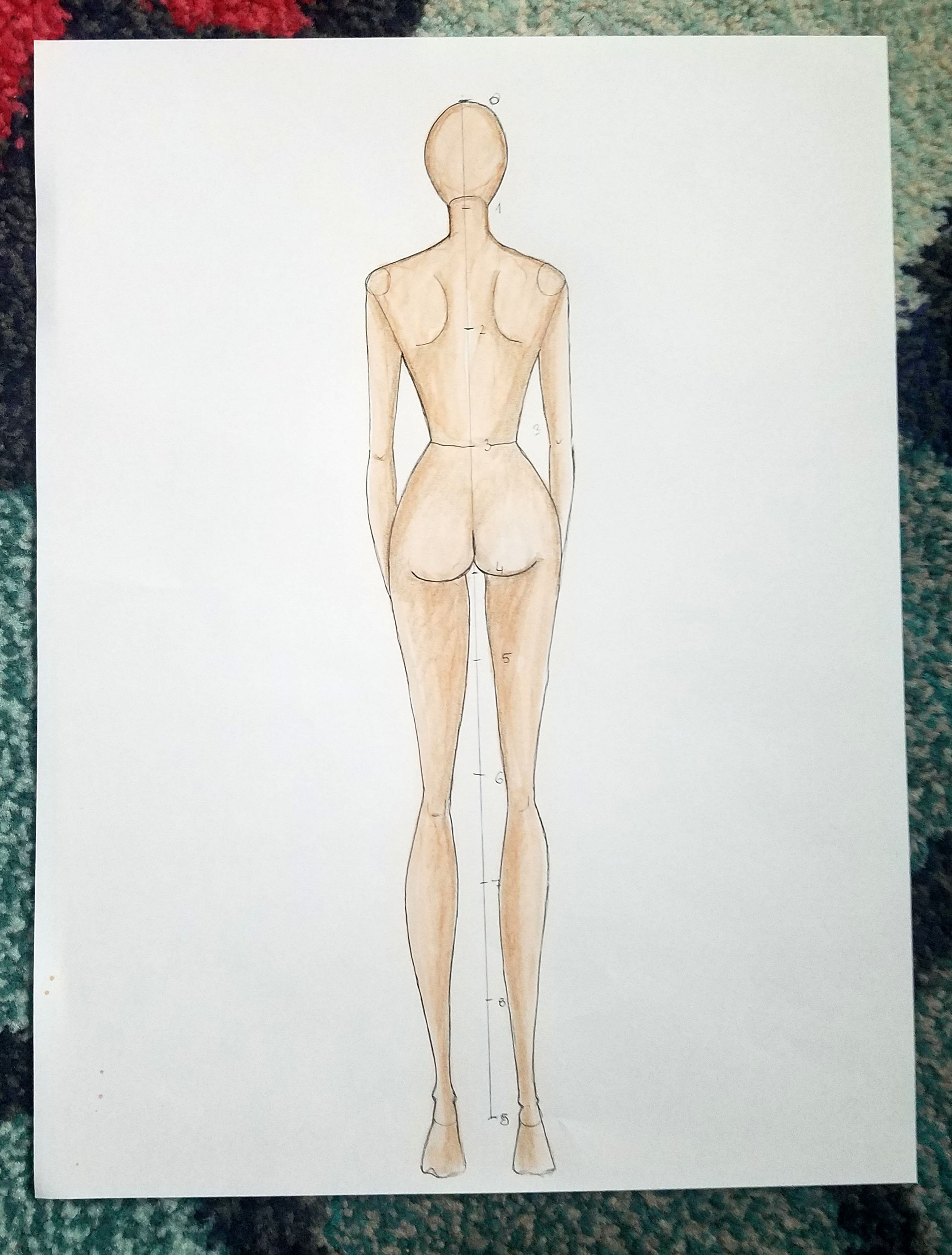 Make Your Own Fashion Figure Templates Fashionista Sketch