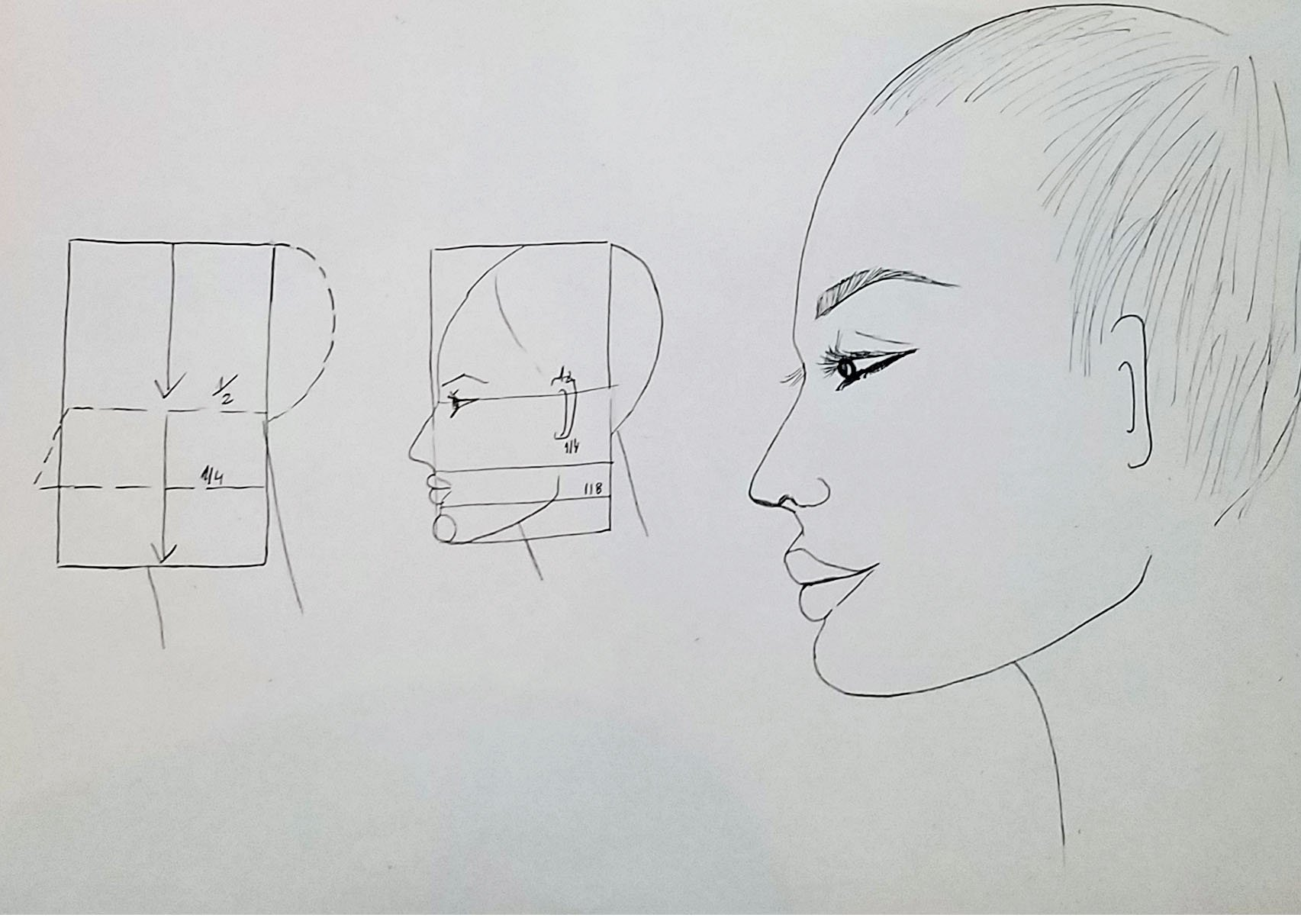 drawing a fashion face