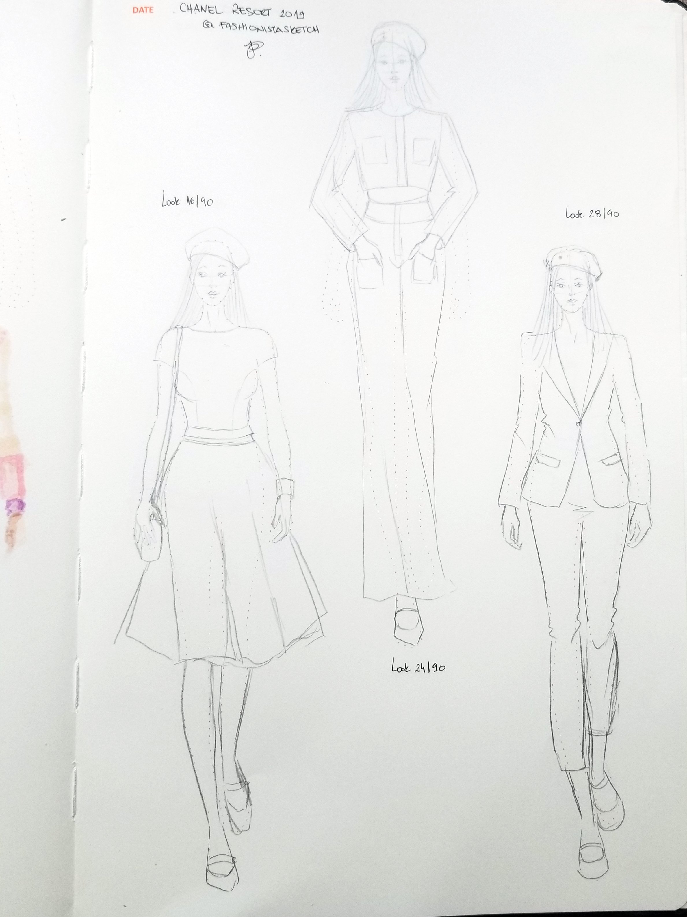 how to illustrate fashion runway looks