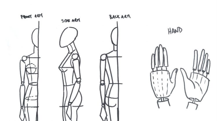 Drawing Hands in Fashion Illustration