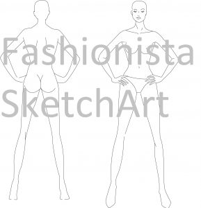 How To Draw A Fashion Croquis Fashionista Sketch